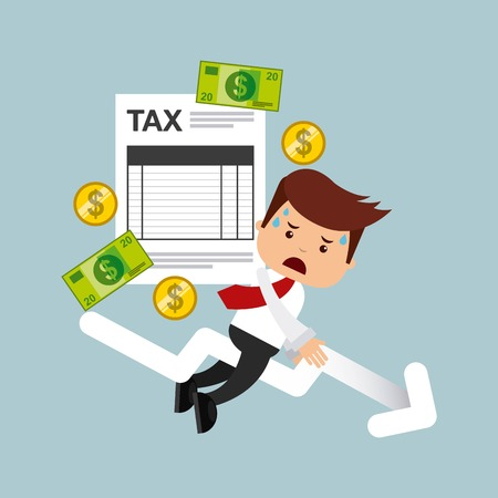 tax accountant: tax time design, vector illustration eps10 graphic Illustration