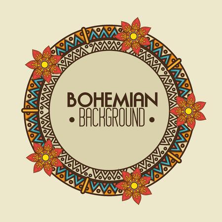 bohemian bacground design, vector illustration eps10 graphic