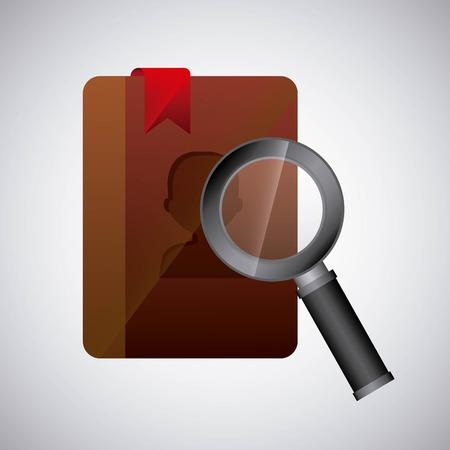 search in agend design, vector illustration eps10 graphic Ilustração Vetorial
