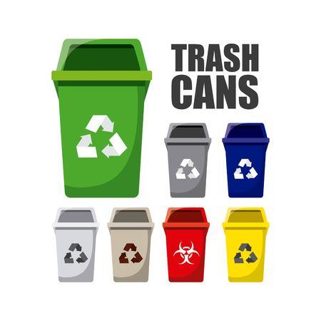 waste separation: waste concept design, vector illustration eps10 graphic