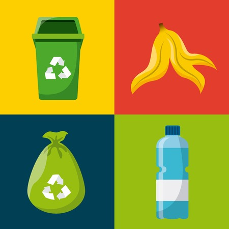 garbage can: waste concept design, vector illustration eps10 graphic