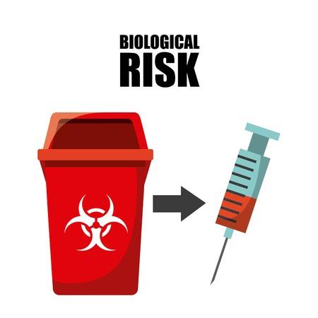 riesgo biologico: concepto de diseño residuos, ejemplo gráfico del vector eps10