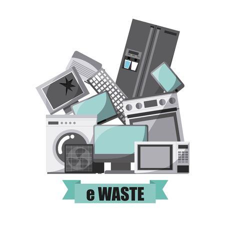afval concept design, vector illustratie eps10 grafische