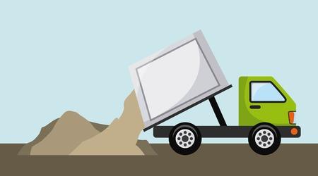 camion de basura: el diseño de camiones de basura, ejemplo gráfico del vector eps10 Vectores