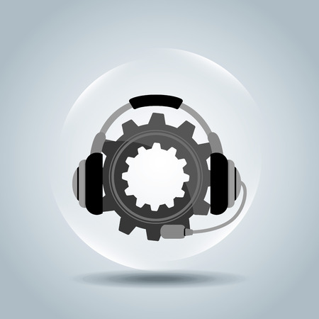 machine operator: customer service design, vector illustration eps10 graphic Illustration