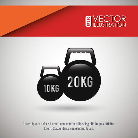 kilograms: fitness icon design, vector illustration eps10 graphic Illustration
