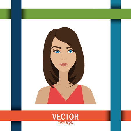 personality character: young people design, vector illustration eps10 graphic