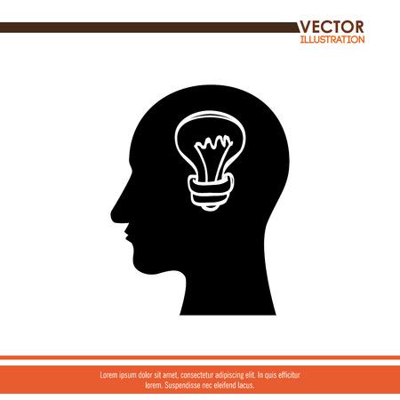 contemplation: think people design, vector illustration eps10 graphic Illustration