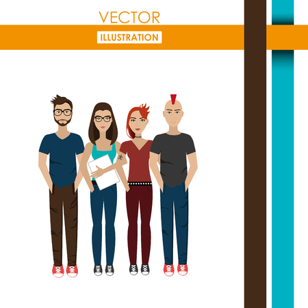 male face: young people design, vector illustration eps10 graphic