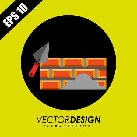 brick road: construction icon design, vector illustration eps10 graphic Illustration
