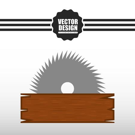warning saw: construction icon design, vector illustration eps10 graphic Illustration