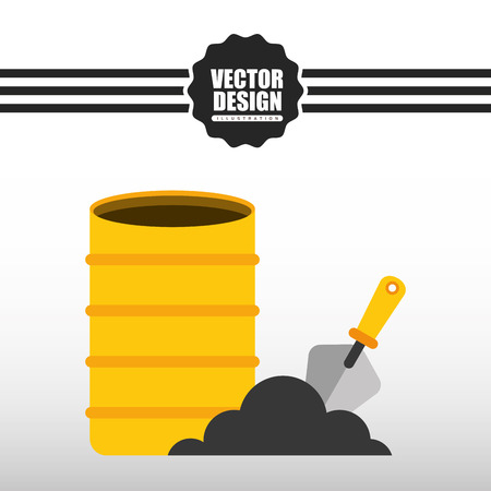 industrial safety: construction icon design, vector illustration eps10 graphic Illustration