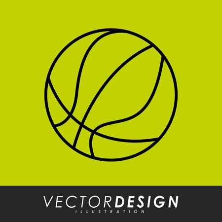 balon de basketball: deporte icono del diseño, ilustración vectorial gráfico eps10