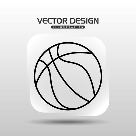 balon de basketball: sport icon design, vector illustration eps10 graphic Vectores