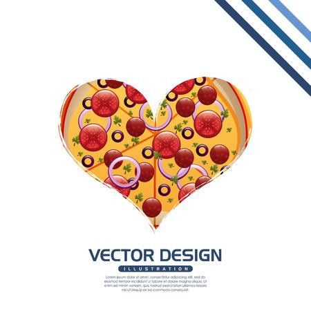 snack time: delicious pizza design, vector illustration eps10 graphic Illustration