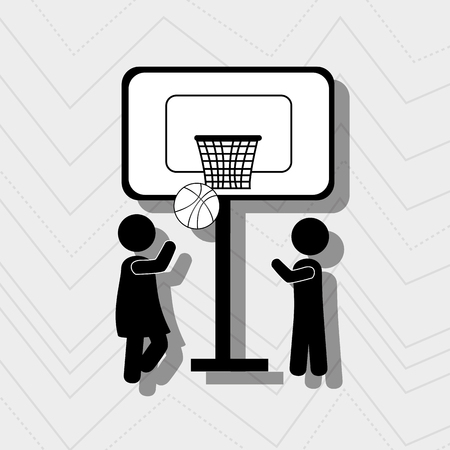 balon de basketball: happy children design, vector illustration eps10 graphic Vectores