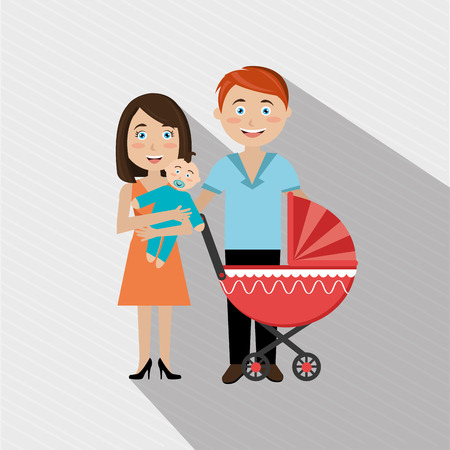 pregnant mom: members of the family design, vector illustration eps10 graphic
