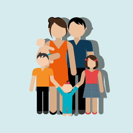 dad son: members of the family design, vector illustration eps10 graphic