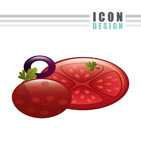 cooking time: delicious pizza design, vector illustration eps10 graphic Illustration