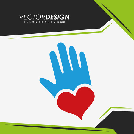 care providers: providing hands design, vector illustration eps10 graphic