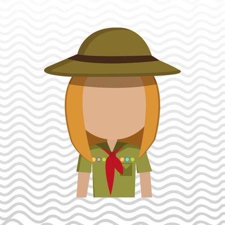 scout: scout avatar design, vector illustration eps10 graphic