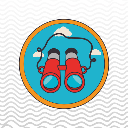 tourist information: camping equipment design, vector illustration eps10 graphic