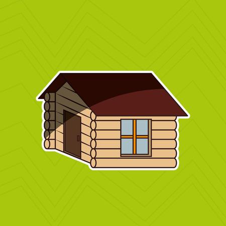 log cabin: log cabin design, vector illustration eps10 graphic