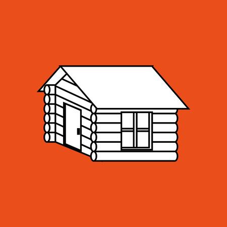 log cabin design, vector illustration graphic