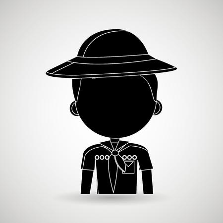 scout: scout avatar design, vector illustration  graphic