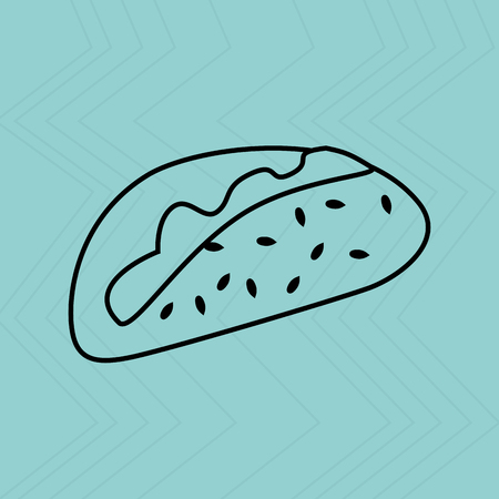 mexican food plate: fast food design, vector illustration  graphic