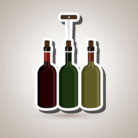 drink tools: wine icon design, vector illustration eps10 graphic