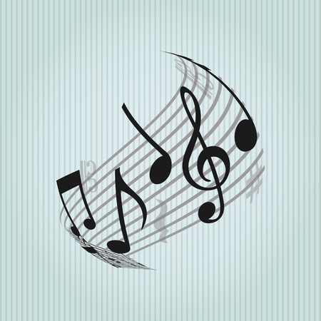 key signature: musical icon design, vector illustration  graphic Illustration