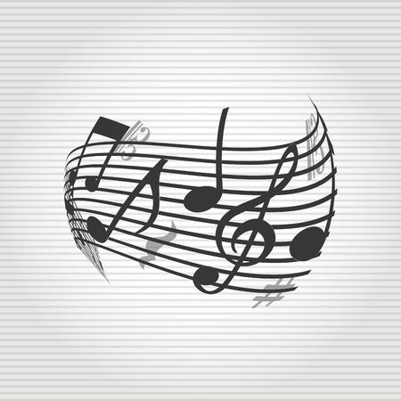 key signature: musical icon design, vector illustration   graphic