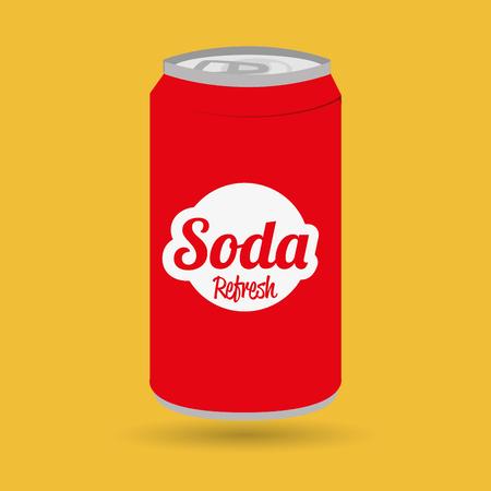 soda kunnen ontwerpen, vector illustratie grafische