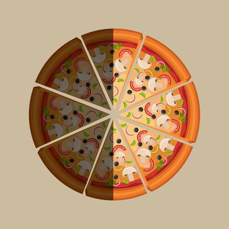 delicious: delicious pizza design, vector illustration   graphic Illustration
