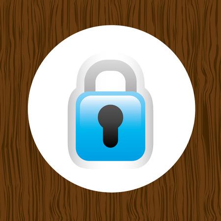 padlock icon: padlock icon design, vector illustration   graphic Illustration