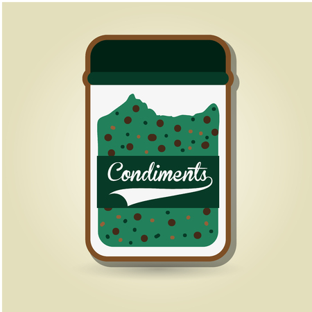 condiments: condiments icon design, vector illustration   graphic