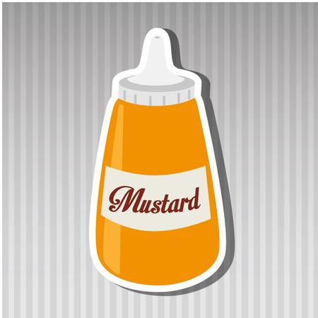 sauce bottle: sauce bottle design, vector illustration   graphic