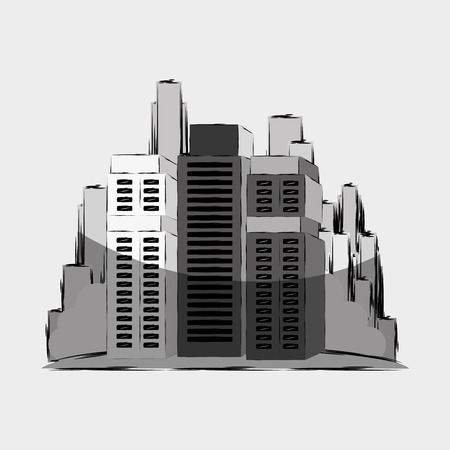 urban building: residential icon design, vector illustration eps10 graphic Illustration