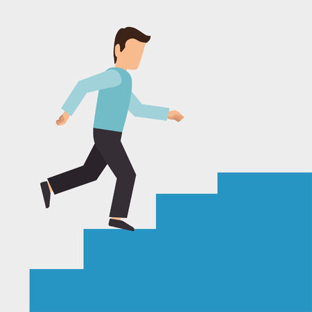 climbing stairs: climbing stairs design, vector illustration eps10 graphic Illustration