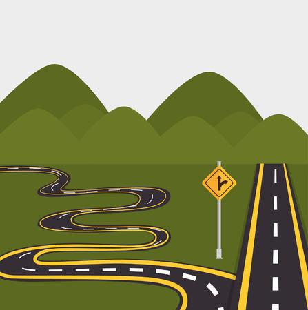 ways: roads and ways design, vector illustration eps10 graphic Illustration
