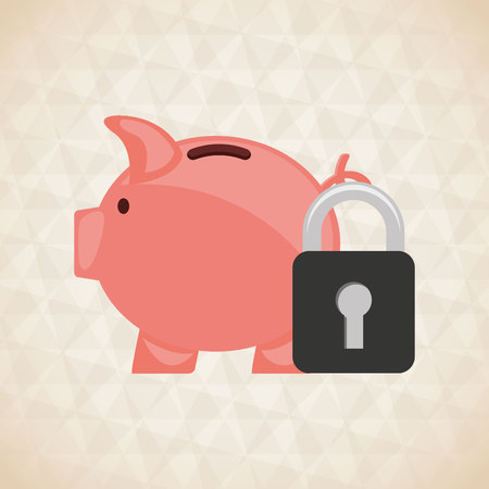 secure growth: money concept design, vector illustration eps10 graphic