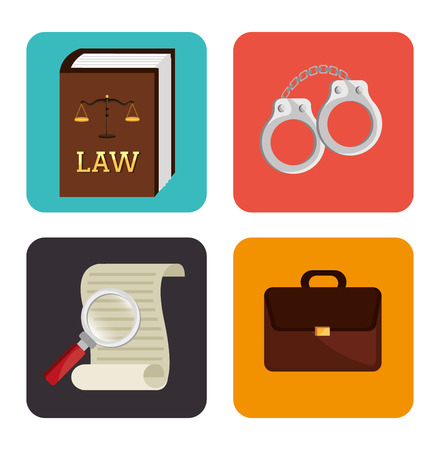handcufs: law and order design, vector illustration eps10 graphic