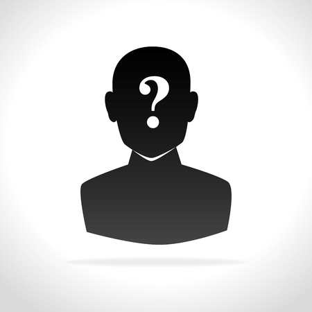 issue: confused person design, vector illustration eps10 graphic