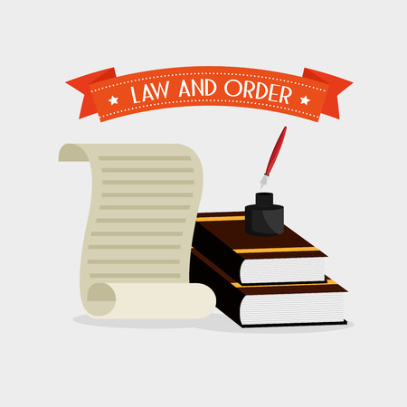 legislation: law and order design, vector illustration eps10 graphic