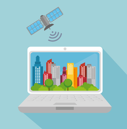 gps device: city smart design, vector illustration eps10 graphic Illustration