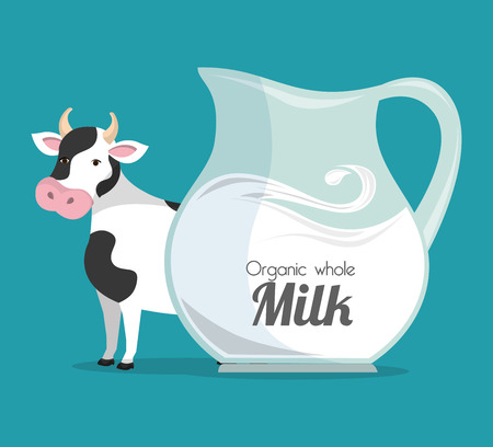fresh milk: milk natural product design, vector illustration eps10 graphic