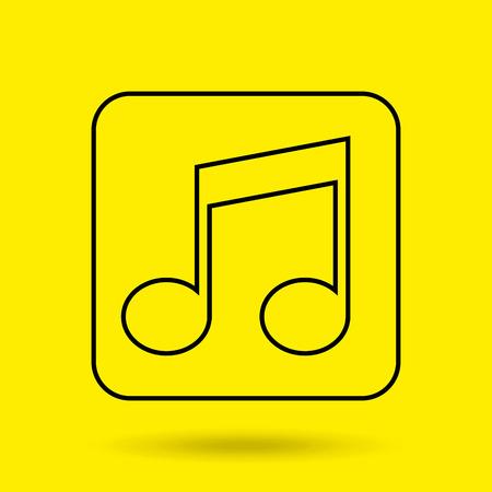 tech: musical sound icon design, vector illustration eps10 graphic