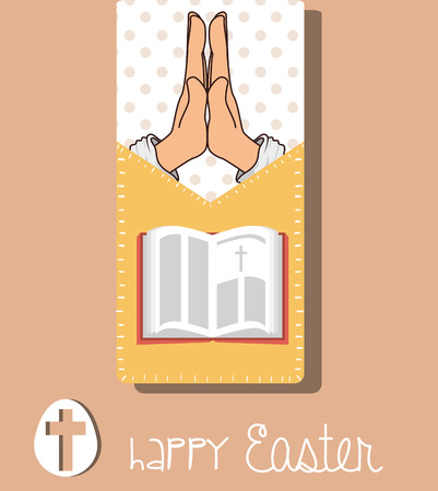 holiday prayer book: happy easter design, vector illustration eps10 graphic Illustration