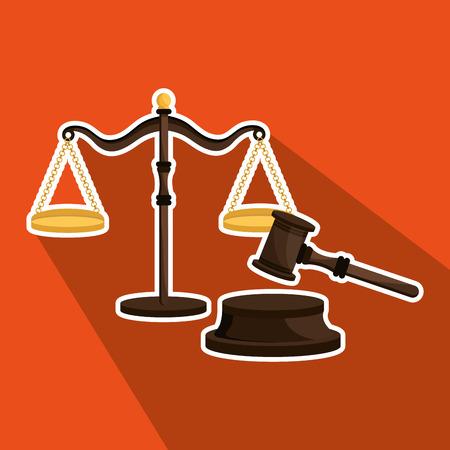 judgement day: law concept design, vector illustration graphic Illustration